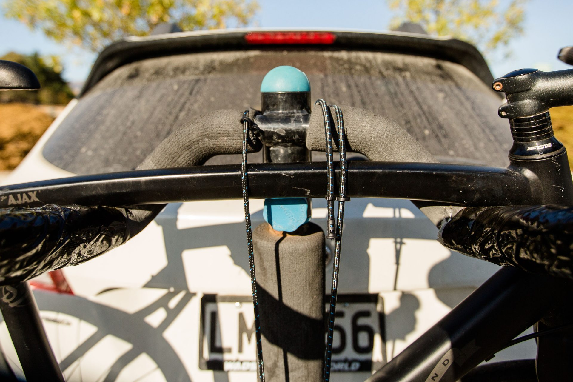 Using Cordall's Solcor Adjusta Bungee for mountain biking