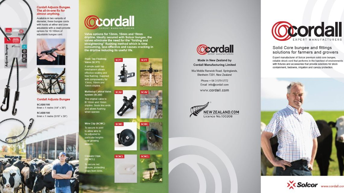 Cordall farming and irrigation brochure